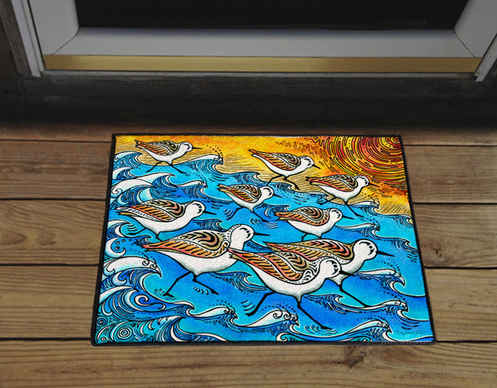 Sanderling Dance Door Mat
