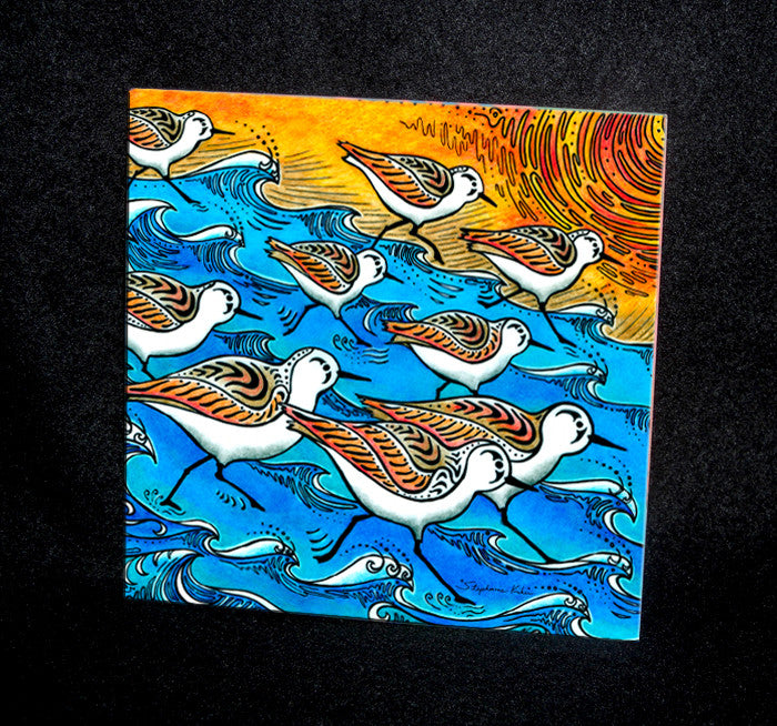Sanderling Dance Ceramic Tile
