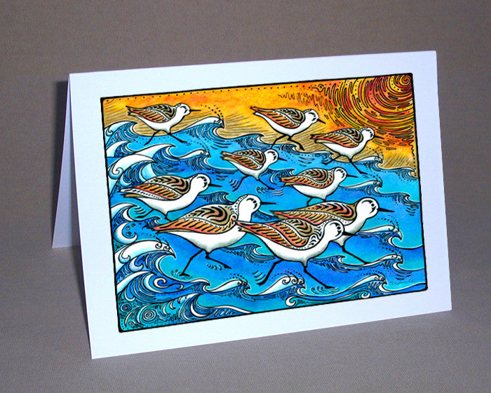 Sanderling Dance Notecard