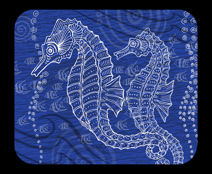 Seahorses One Color Mousepad