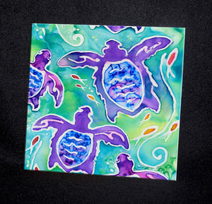 Sea Turtle Swim Ceramic Tile