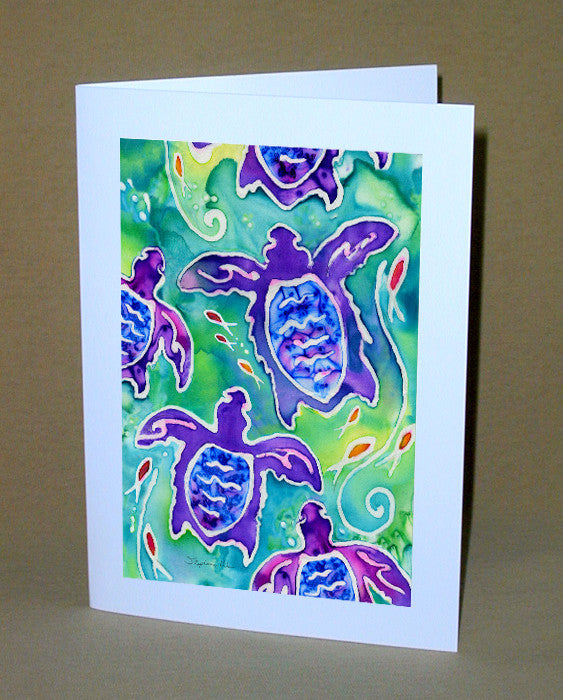 Sea Turtle Swim Notecard