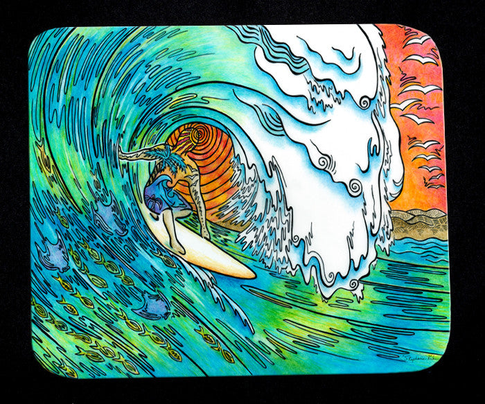Sunset Surfer Mousepad
