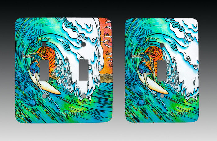 Sunset Surfer Light Switch Cover