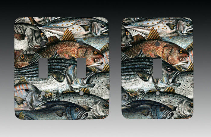 Surf Fish Light Switch Cover