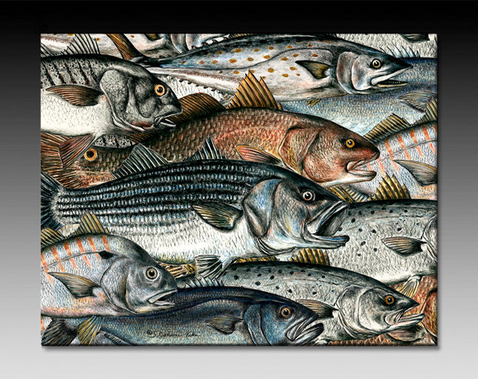 Surf Fish Ceramic Tile