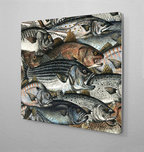 Surf Fish Aluminum Wall Art