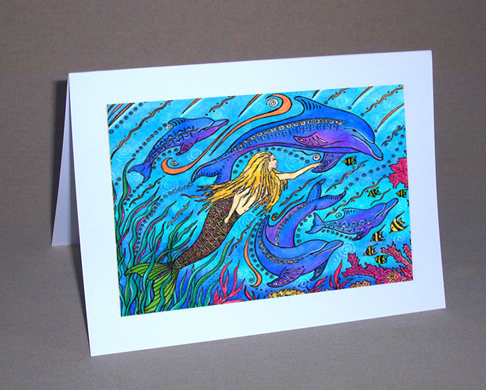 Swimming with Dolphins Notecard