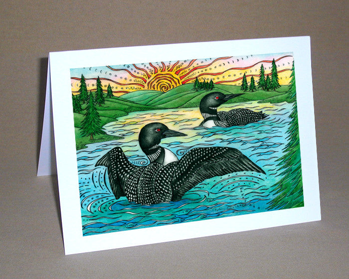 The Loons Notecard