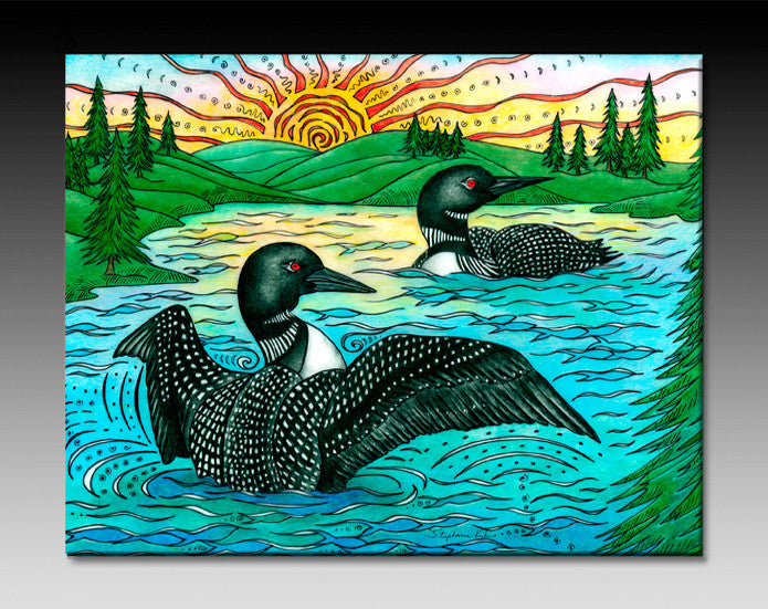 The Loons Ceramic Tile