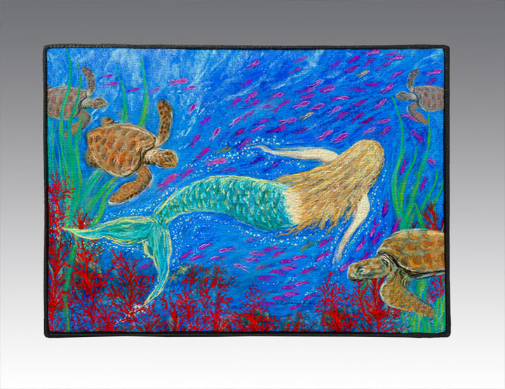 The Mermaid Dance Door Mat