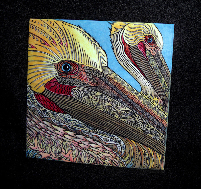 The Pelicans Ceramic Tile