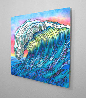 The Wave Aluminum Wall Art