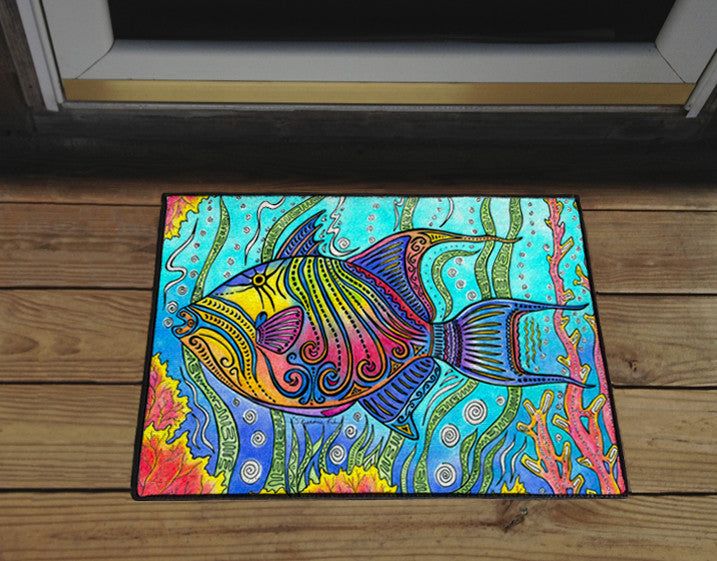Triggerfish Door Mat
