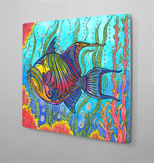 Triggerfish Aluminum Wall Art