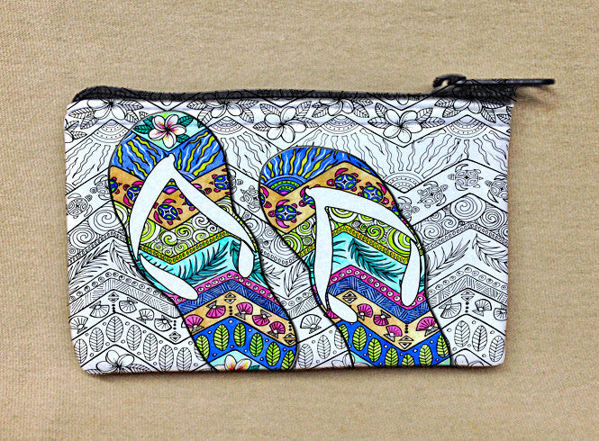 Tropical Flip Flops Coin Bag