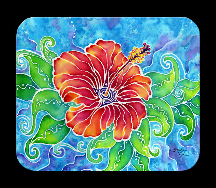 Tropical Hibiscus Mousepad