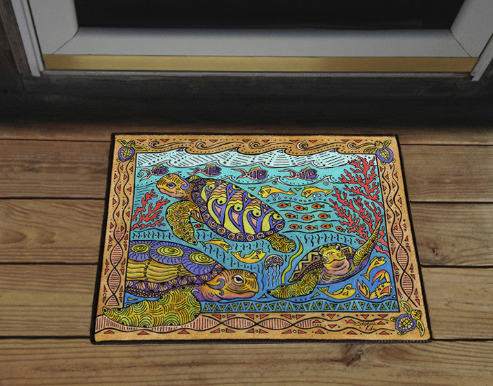 Turtle Time Door Mat
