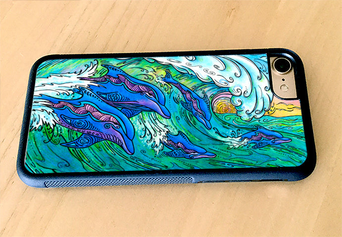 Wave Riding iPhone Case