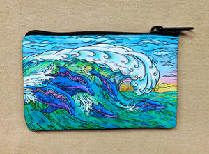 Wave Riding Coin Bag