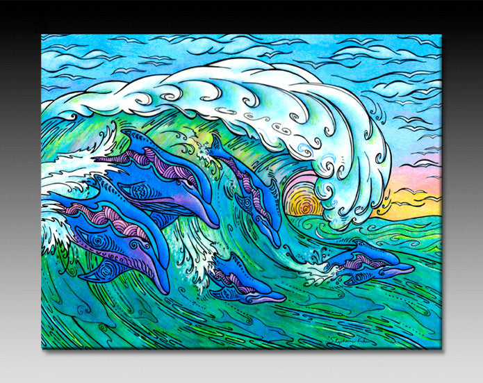 Wave Riding Ceramic Tile