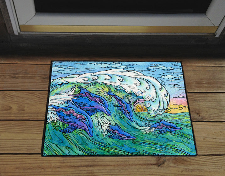 Wave Riding Door Mat