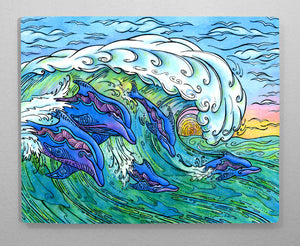 Wave Riding Aluminum Wall Art