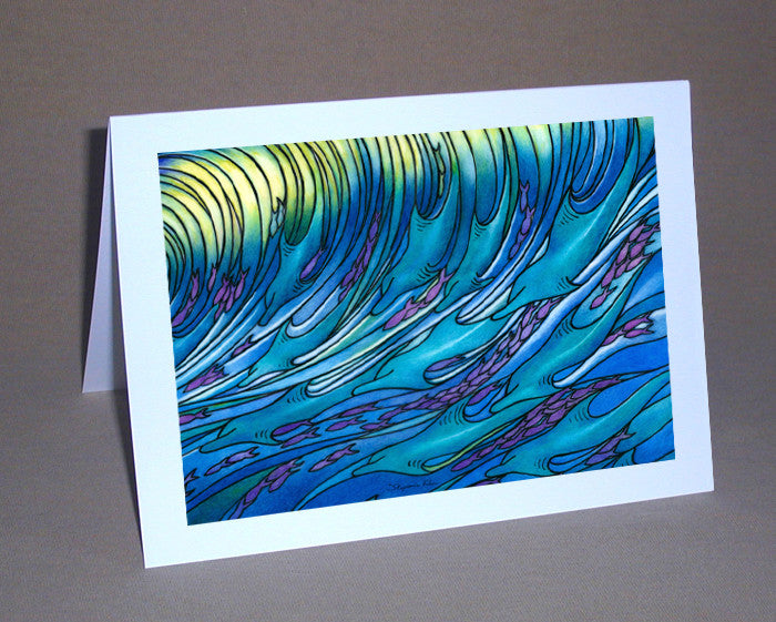 Waves of the Dolphin Notecard