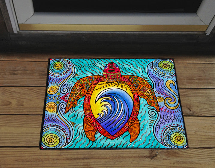 Waves of the Turtle Door Mat