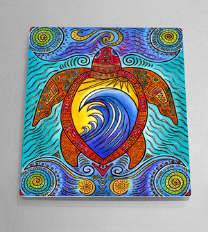 Waves of the Turtle Aluminum Wall Art