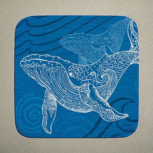 Whale One Color Coaster