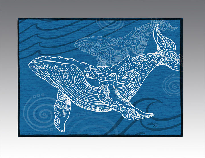 Whale One Color Door Mat