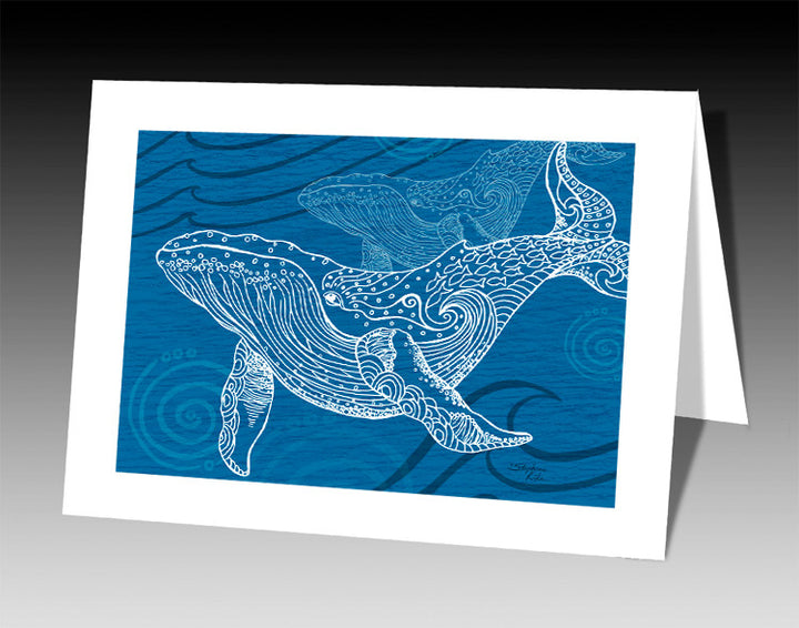 Whale One Color Notecard