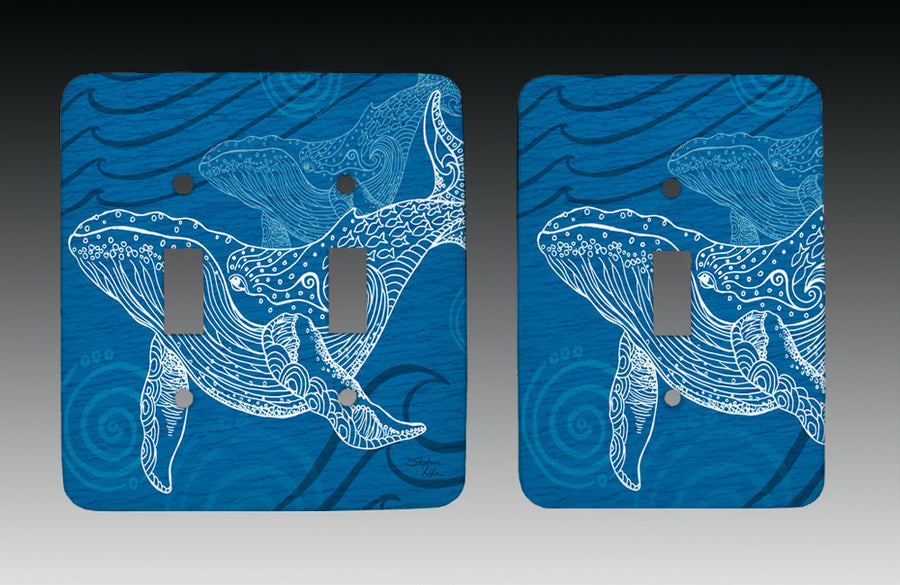 Whale One Color Light Switch Cover