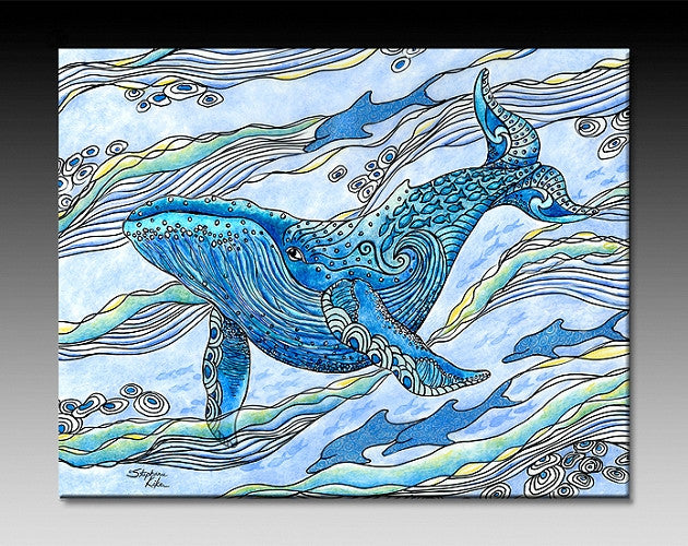 Whale Watch Ceramic Tile