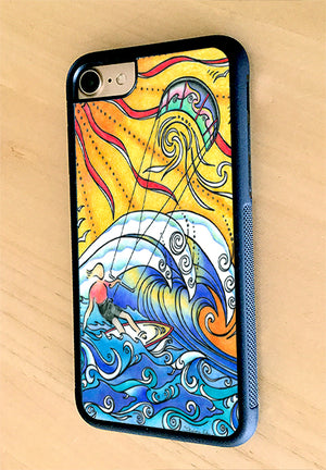 Wind and Waves iPhone Case