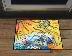 Wind and Waves Door Mat