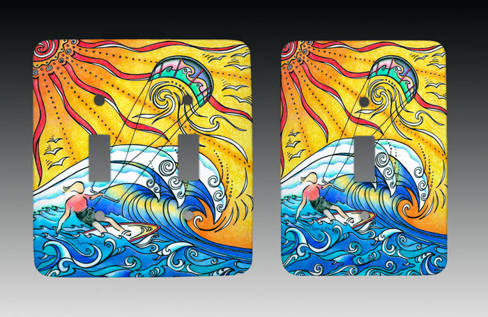 Wind and Waves Light Switch Cover