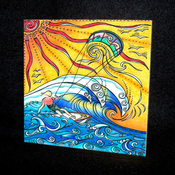Wind and Waves Ceramic Tile