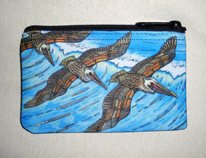 Wings over Waves Coin Bag