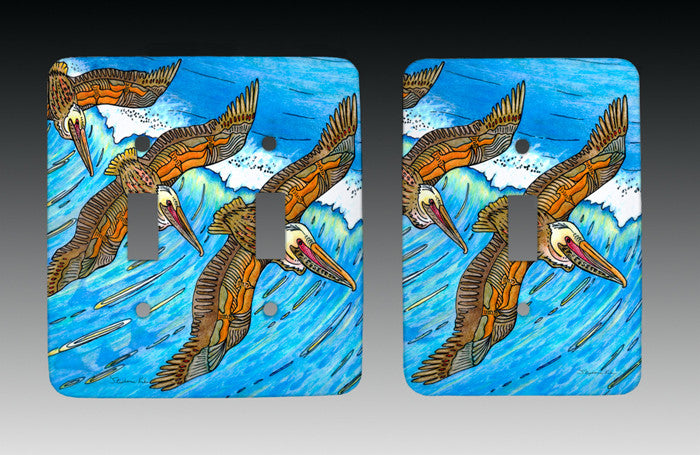 Wings over Waves Light Switch Cover