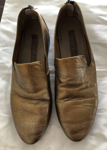 Image of Shoes MARSÈLL Gold Leather Loafers Size 35