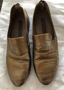 Shoes MARSÈLL Gold Leather Loafers Size 35