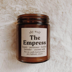 Home Tarot Cards Candle - The Empress