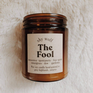 Home The Fool - Soy Candle— Gardenia, Sweetgrass, Dew