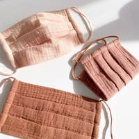 Cotton Mask 3pc Set-Dusty Rose - Elysian Boutique