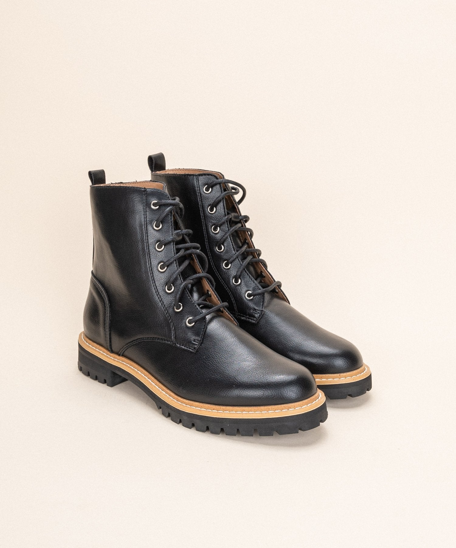 Shelby Military Boot - Black - Elysian Boutique
