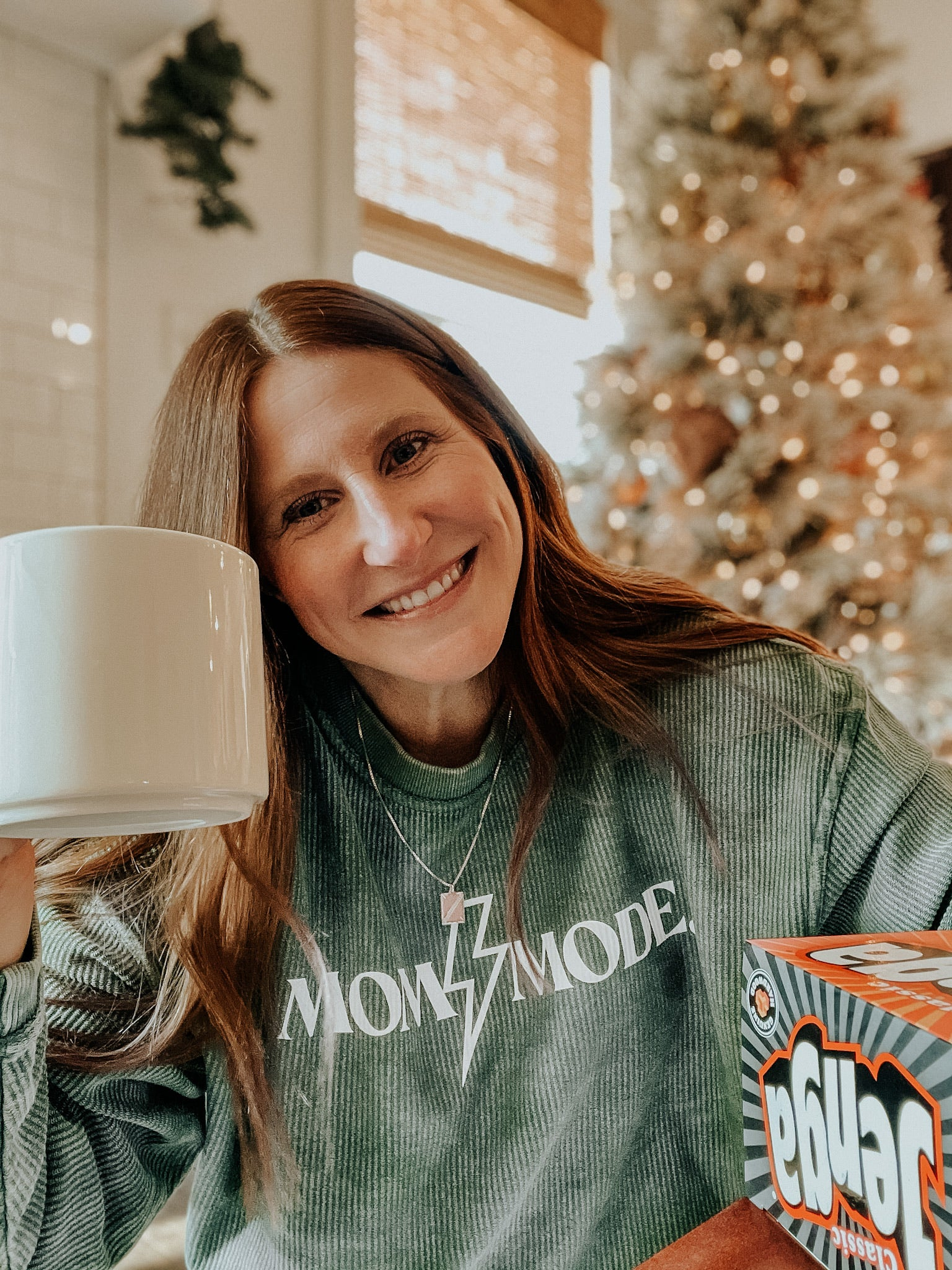 Written. Mom Mode Corded Sweatshirt - Elysian Boutique
