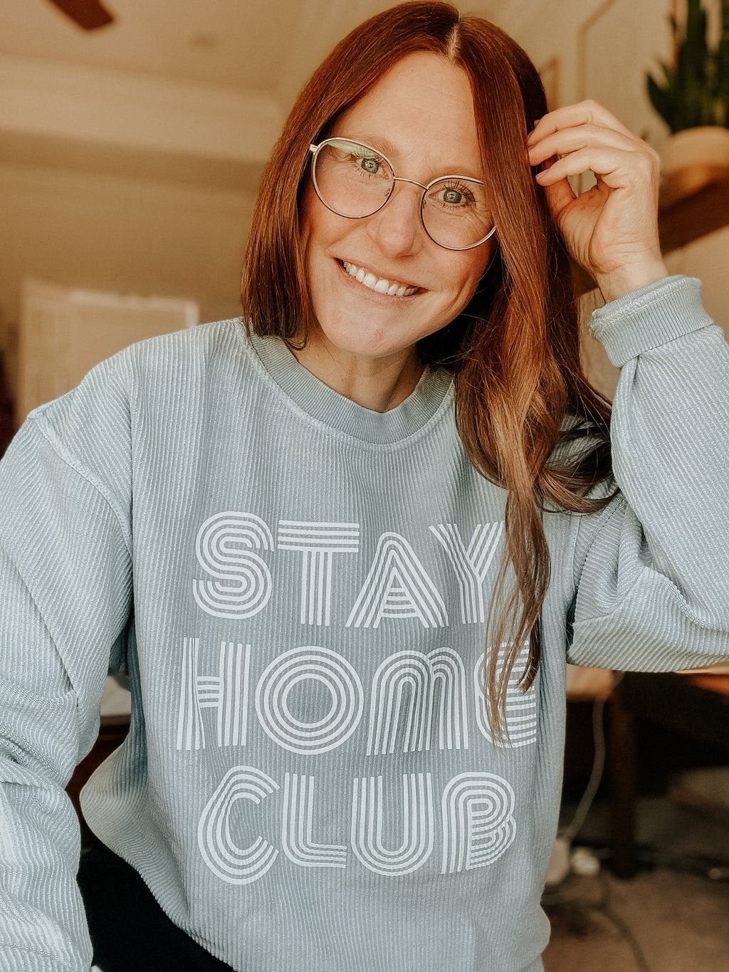 Written. Stay Home Club Corded Sweatshirt - Elysian Boutique