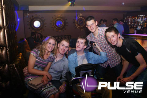 group of young adults at nightclub